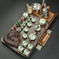 功夫茶具茶盘套装 整套紫砂陶瓷冰裂茶道全自动茶具茶台家用简约