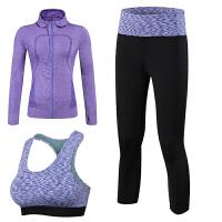 20180414144901436秋冬瑜伽服三套装女 运动文胸修身显瘦舞蹈跑步健身房运动外套