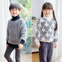 秋冬男童女童套头毛衣儿童打底衫针织线衣