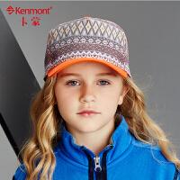 kenmont儿童帽子韩版秋季女童鸭舌帽春秋时尚宝宝小孩纯棉棒球帽5873