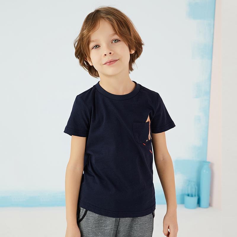 【秒杀价:49】商场同款马拉丁童装男童T恤夏款新款短袖T恤1夏款416163X 4号0点开抢