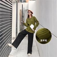 七格格打底针织衫女长袖2019新款冬季韩版套头修身洋气百搭上衣潮