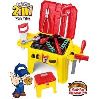 可拆装安装工具椅儿童仿真过家家维修工具箱套装