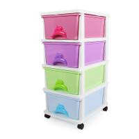 Yeya 也雅 海豚抽屉式 简约衣服玩具整理柜儿童衣物储物柜