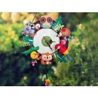 钟表时钟 挂钟 客厅 创意不织布手工创意diy 制作 自制材料包