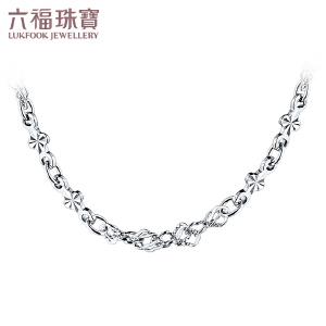 六福珠宝 Pt950四叶草水波链铂金女款项链   A03TBPN0002