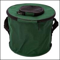 钓鱼桶折叠水箱便携带盖水桶活鱼桶钓鱼用具工具箱装鱼箱帆布鱼桶