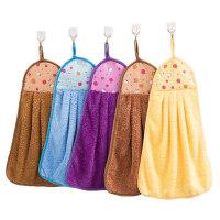 5条擦手巾挂式珊瑚绒吸水擦手布毛巾厨房抹布韩国可爱儿童搽手巾