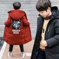 中大童冬季2018新款韩版棉衣外套中长款男孩棉袄