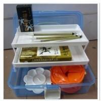 特价销售 马利12色国画颜料套装 套装毛笔+墨汁+宣纸等19件套工具