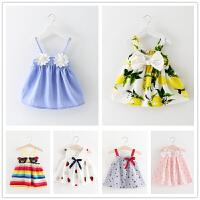 女童连衣裙小童女宝宝夏装吊带裙子0-1-2-3岁儿童公主裙