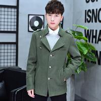秋冬季韩版修身帅气毛呢大衣男冬装青年潮男装呢子短款风衣男外套