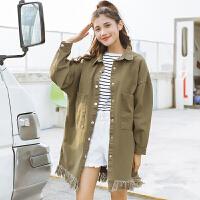 秋冬季新款韩版风衣学生小清新学院风中长款长袖外套女 均码