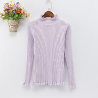 新款半高领毛衣女秋冬韩版修身长袖套头女针织打底衫加厚上衣外套