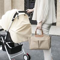 妈咪包手提袋宝宝出行多功能轻便防水母婴包可挂推车便当饭盒袋
