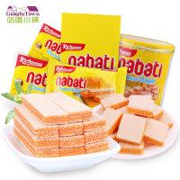 【满99减50元】丽芝士richeese纳宝帝奶酪威化饼干58g组合装 印尼进口芝士nabati