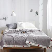 伊迪梦家纺 全棉水洗棉夏被大豆纤维夏凉被空调被单人双人大床被芯被子PV224
