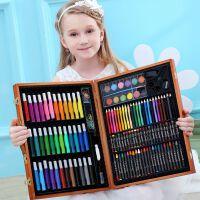 画画工具绘画彩笔学习用品水彩笔蜡笔美术工具箱儿童画笔套装礼盒