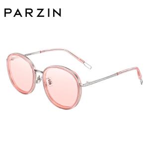 帕森2018新品尼龙太阳镜 女士时尚大框彩膜潮墨镜女7711