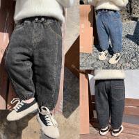男童裤牛仔裤长裤男宝宝冬季儿童洋气百搭束脚裤子