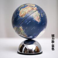 欧式地球仪摆件创意磁铁旋转带灯光音乐盒居家装饰送学生礼物
