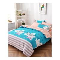 卡通四件套 多功能芦荟棉床单套件时尚印花磨毛床单被罩四件套儿童床上用品
