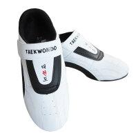跆拳道鞋儿童男女款散打鞋初学者训练软底透气道鞋 白色