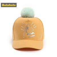 巴拉巴拉儿童帽子女童潮秋季2018新款时尚休闲棒球帽宝宝鸭舌帽女