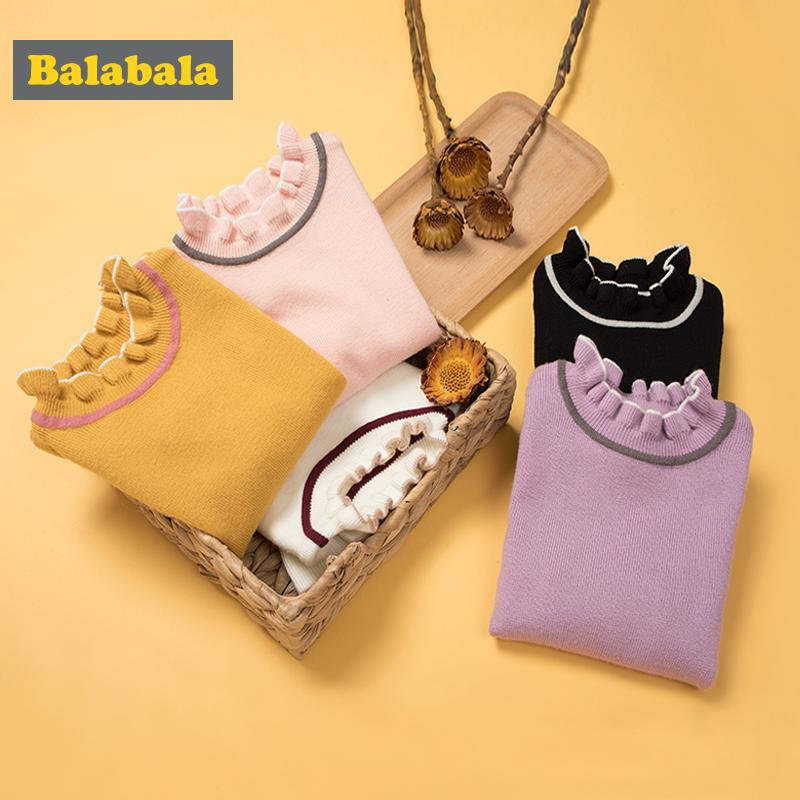 【两件5.5折价:55.55】巴拉巴拉童装女童毛衣套头秋装2018新款小童宝宝针织衫儿童线衣女