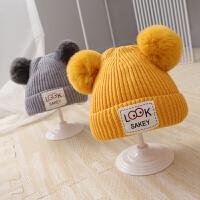 婴儿帽子秋冬季婴幼儿胎帽可爱超萌冬天初生儿毛线帽