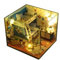 diy小屋手工制作小房子模型拼装建筑玩具创意生日礼物男女生