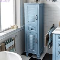 美式浴室柜边柜卫生间PVC立柜储物柜收纳柜侧柜落地柜置物柜边柜