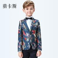 儿童礼服小西装套装花童礼服男孩模特走秀主持人钢琴演出服春