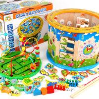 男孩宝宝益智儿童积木玩具 0-1-2-3周岁男女孩子力宝宝启蒙早教婴儿可啃咬兼容乐高 13合一大绕珠(带40首歌)