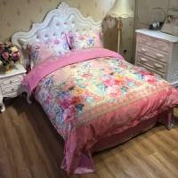 欧式提花秋冬棉加厚磨毛四件套棉婚庆床品床上用品4件套保暖 粉红色 艾瑞林 粉