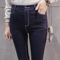 加绒打底裤女秋冬季外穿加厚显瘦新款韩版百搭黑色保暖小脚裤