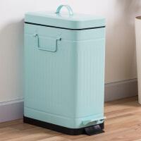 【满减】欧润哲 10升静音款罗马纹长方垃圾桶 厨房脚踏式垃圾桶时尚缓降客厅垃圾篓