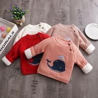 儿童针织衫男童婴儿套头打底衫宝宝圆领线衣女童毛衣冬装