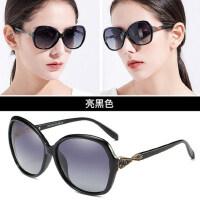 圆脸太阳镜女士潮款 大框偏光墨镜经典个性复古眼镜