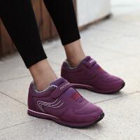 冬季棉鞋女加绒保暖妈妈鞋运动鞋中老年健步鞋防滑软底老北京布鞋