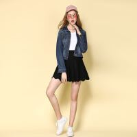 18春秋新款牛仔外套女短款学生版bf修身百搭上衣时尚夹克潮