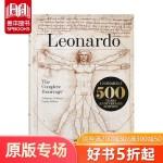 英文原版 Leonardo Da Vinci 达芬奇素描手稿全集 TASCHEN 画册收藏珍藏版 【Bibliothe