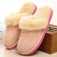 棉拖鞋厚底拖鞋冬季室内毛毛情侣居家居保暖家用月子鞋棉拖女男士