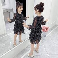 女童春�b�B衣裙�和�公主裙子小女孩�L袖童�b春秋
