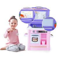女孩厨房做饭套装儿童过家家玩具电动出水涂鸦画板3-6岁