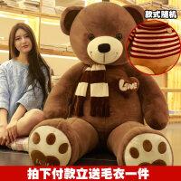 大熊毛绒玩具送女友泰迪熊熊猫公仔抱抱熊2米女生布娃娃超大号1.6 抖音