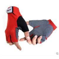 时尚拼色登山骑行手套野营钓鱼手套男户外速干防滑半指手套
