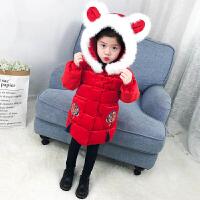 汉服女童唐装棉衣秋冬中国风女宝宝拜年儿童外套