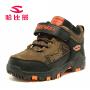 哈比熊童鞋男童鞋冬季款真皮儿童棉鞋保暖宝宝雪地靴子户外运动鞋