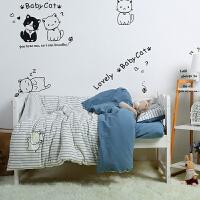 宝宝婴儿童幼儿园被子三件套棉棉幼儿园午睡三件套床上用品冬 其它